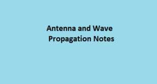 Antenna Wave Propagation Notes