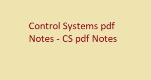 Control Systems pdf Notes