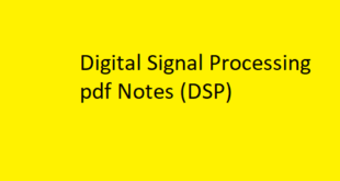 Digital Signal Processing pdf Notes
