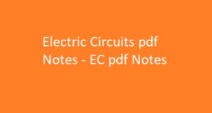 Electric Circuits pdf Notes | EC pdf Notes