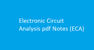 Electronic Circuit Analysis pdf Notes