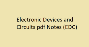 Electronic Devices and Circuits pdf Notes