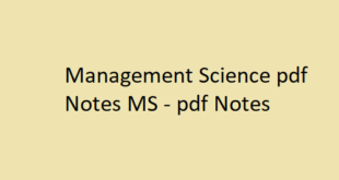 Management Science pdf Notes MS | MS pdf Notes