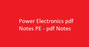 Power Electronics pdf Notes PE | PE pdf Notes