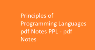 Principles of Programming Languages pdf Notes PPL | pdf Notes