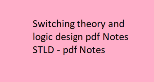 Switching theory and logic design pdf Notes STLD | STLD pdf Notes