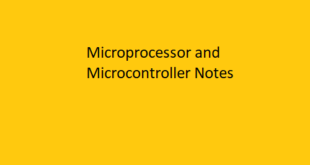 Microprocessors and Microcontrollers Notes