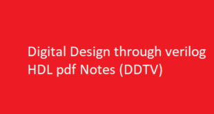 Digital Design through verilog HDL pdf Notes | DDTV pdf Notes