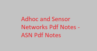 Adhoc and Sensor Networks pdf Notes