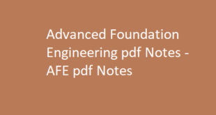 Advanced Foundation Engineering pdf Notes