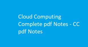 Cloud Computing Notes
