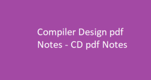 Compiler Design - CD Notes