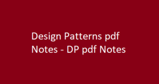 Design Patterns pdf Notes | DP pdf Notes