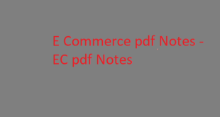 E Commerce pdf Notes | EC pdf Notes