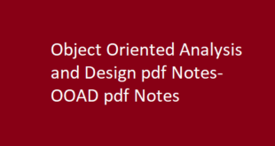 Object Oriented Analysis and Design pdf Notes | OOAD pdf Notes
