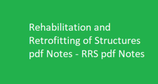Rehabilitation and Retrofitting of Structures pdf Notes | RRS pdf Notes