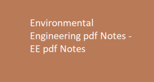 Environmental Engineering pdf Notes