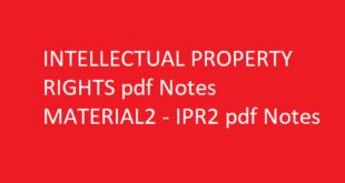 IPR2 pdf notes