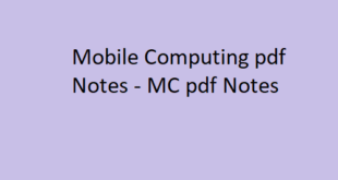 Mobile Computing pdf Notes