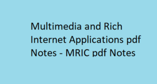 Multimedia & Rich Internet Applications pdf Notes