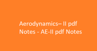 Aerodynamics– II pdf Notes