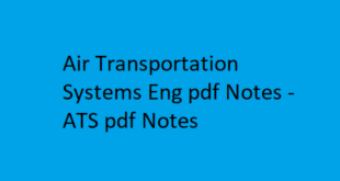 Air Transportation Systems Eng pdf Notes