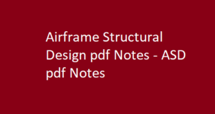 Airframe Structural Design pdf Notes