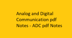 Analog and Digital Communication pdf Notes