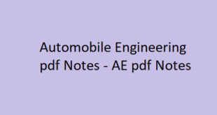 Automobile Engineering pdf Notes