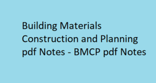 Building Materials, Construction & Planning pdf Notes