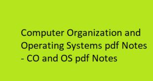 Computer Organization and Operating Systems pdf Notes