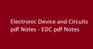 Electronic Device and Circuits pdf Notes | EDC pdf Notes