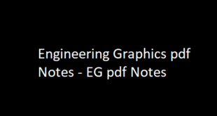 Engineering Graphics pdf Notes