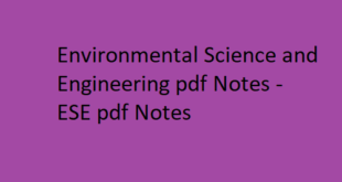 Environmental Science and Engineering Notes pdf