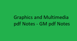 Graphics and Multimedia Notes pdf