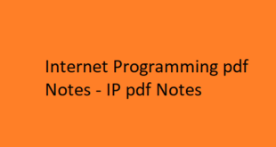 Internet Programming Notes pdf
