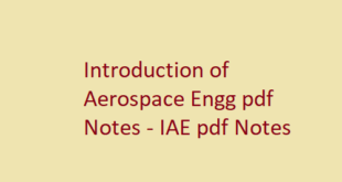 Introduction of Aerospace Engg pdf Notes