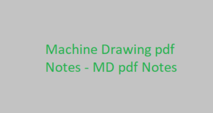 Machine Drawing pdf Notes
