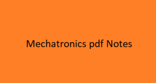 Mechatronics pdf Notes