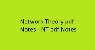 Network Theory pdf Notes