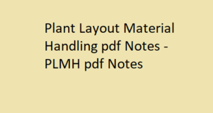 Plant Layout Material Handling pdf Notes
