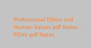 Professional Ethics and Human Values pdf Notes