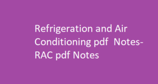 Refrigeration and Air Conditioning pdf Notes