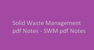 Solid Waste Management pdf Notes