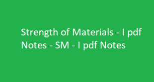 Strength of Materials - I pdf Notes