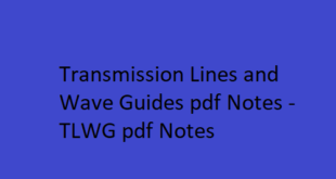 Transmission Lines and Wave Guides pdf Notes