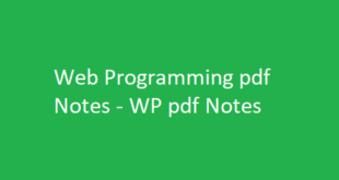 Web Programming pdf Notes